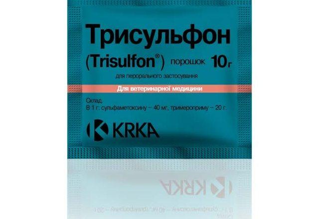إعداد Trisulfon لعلاج الأمراض في الأرانب