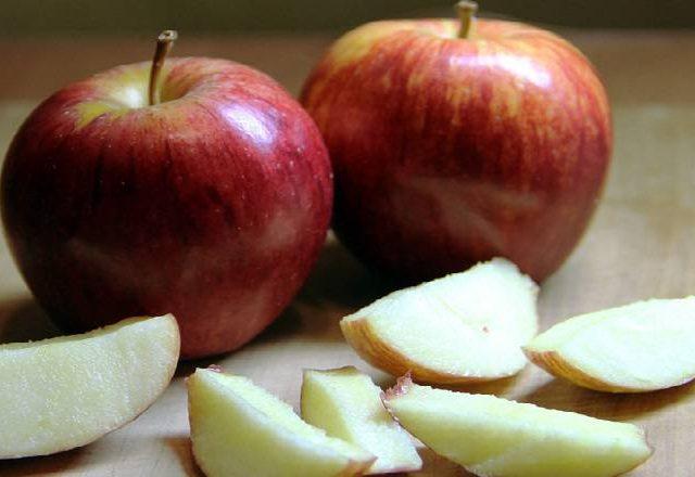 تجميد التفاح